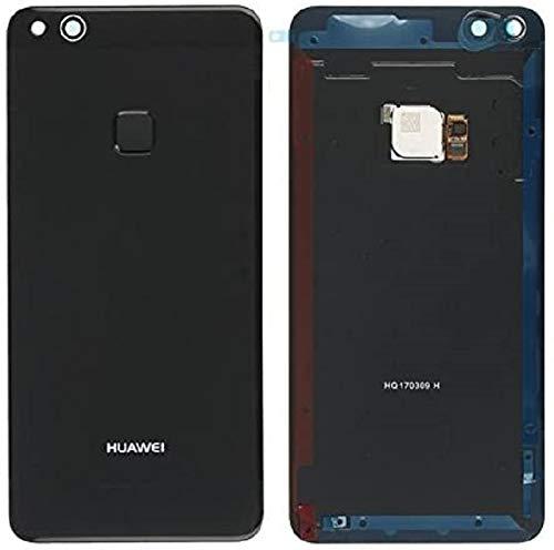 Akkudeckel Backcover Akku Abdeckung SCHWARZ für Huawei P10 LITE mit Fingerabdruck Sensor/Klebefolie / Dichtung/Werkzeug-Set