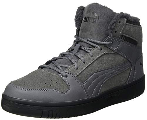 PUMA Unisex Rebound Layup SD Fur Sneaker, Castlerock Black, 37 EU