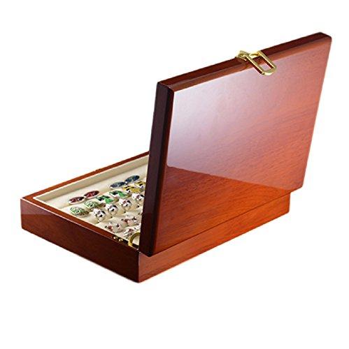 Ducomi Majestic - Box für Manschettenknöpfe, Ringe und Schmuck aus edlem Holz - Enthält über 20 Manschettenknöpfe oder Ringe - Klassisches und Elegantes Design - Ausgezeichnete Geschenkidee und überr