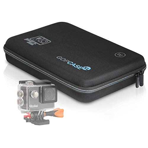 Wicked Chili GOP Case Tasche kompatibel mit Rollei Actioncam 560/550 / 540/530 / 510/425 Koffer für Kamera, LCD und Zubehör (mit Tragegriff und Fach mit Reißverschluss)