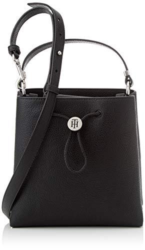 Tommy Hilfiger Damen Th Core Mini Bucket Umhängetasche, Schwarz (Black), 10x21x20.5 centimeters