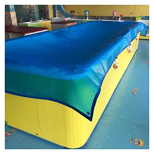 HYDT Solarplane Poolabdeckung Rechteckige Blue Bubble Poolabdeckung für Den Sommer, Staubdichte Pool-Solarabdeckung für Aufstellpool, Zum Blockieren von Blättern (Size : 2m×7m(6ft×23ft))
