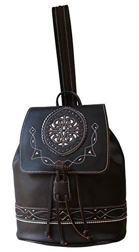 Funrey Bolso mochila de piel de Ubrique