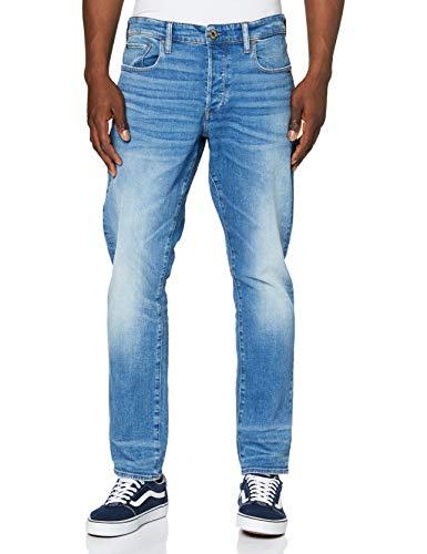 G-STAR RAW Herren Jeans 3301 Straight Tapered, Blau (Worn In Azure B631-A795), 34W / 32L