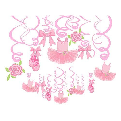 Sayala 30 Stücke Geburtstag Dekoration Set * Schöne Ballett Mädchen Thema * für Geburtstagsfeiern, Kindgeburtstag deko, Geburstagsdeko Mädchen Baby Shower Party Deko