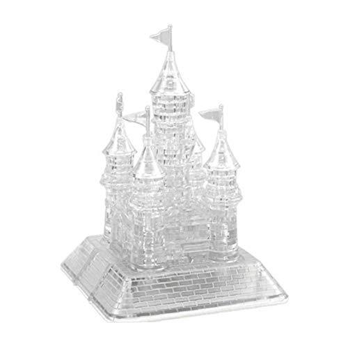 Hotaden 3D Assembly Crystal Castle Puzzle 3D Musical Puzzle DIY Miniatur-Schloss Versammlung mit Beautiful Light-up Ausbildung Kinder