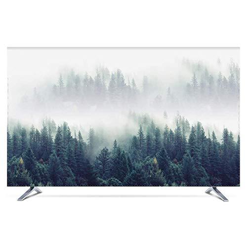 Cubierta de TV para interiores con efecto sedoso, suave, antiestático, resistente al agua, protector de pantalla