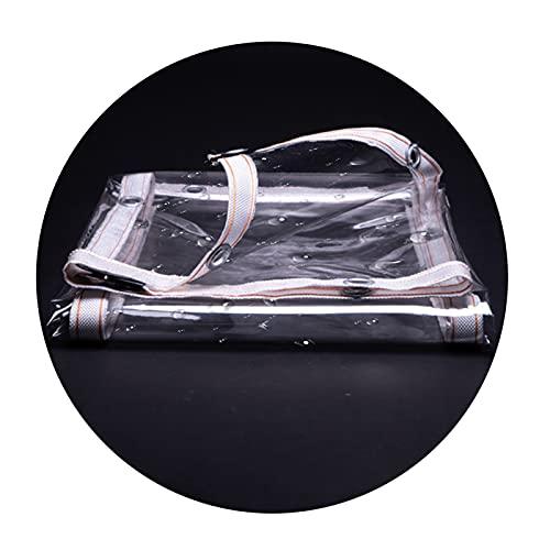 Trasparente Telone Impermeabile, A prova di polvere Antiolio, 0.3mm Telo di Protezione Linea Top insieme per Campeggio Balconi e Coperture Per Mobili Da Esterno ( Colore : Chiaro , Taglia : 5X2.5M )