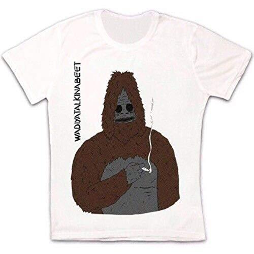 YUKINO Funny Sassy The Sasquatch Smoke Big LEZ Show Retro Unisex T Shirt-L,White/Men's