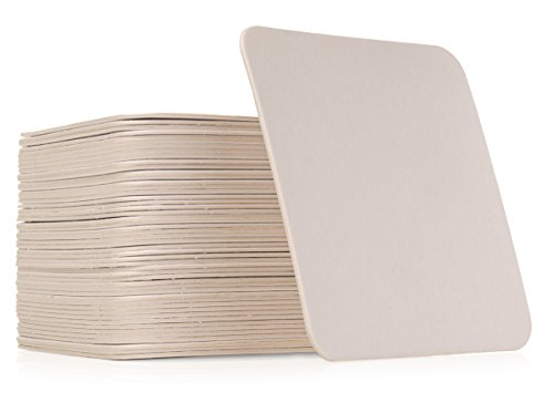 Qty 50 Plain White Square Coasters