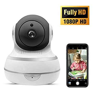 Home Security Camera 1080 HD IP Camera Indoor Baby Monitor Wireless Smart WiFi Dome Camera Surveillance System with Night Vision/Motion Detection,2-Way Audio, Remote Monitor with iOS, Android App