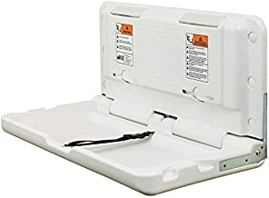 ECR4Kids ELR-18004 Wall-Mounted Baby Changing Station, Horizontal Fold-Down Diaper Change Table with Safety Straps for Commercial Bathrooms, ADA and ANSI Compliant, Free Replacement Straps, White Granite