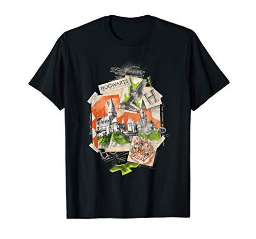 Harry Potter Hogwarts Scrapbook Collage T-Shirt