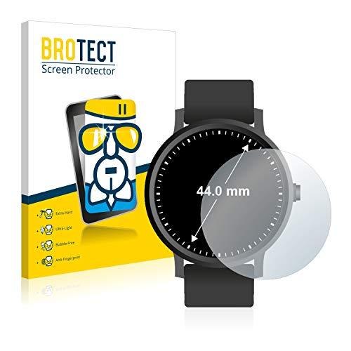 brotect Pellicola Protettiva Vetro Compatibile con Orologi (Circolare, Diametro: 44 mm) Schermo Protezione, Estrema Durezza 9H, Anti-Impronte
