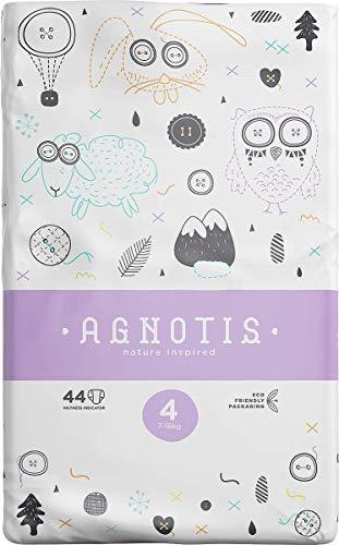 AGNOTIS - 176 Baby Windeln Größe 4 für Babys 7-18 kg | mit hervorragendem Auslaufschutz und Feuchtigkeitsindikator | dermatologisch getestet | 4 Pkg x 44 Windeln, 0,19€ Stk.