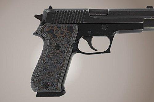 Hogue 20137-BLKGRY Sig Sauer P220 Da/SA American Piranha G10 Damascus Black/Grey