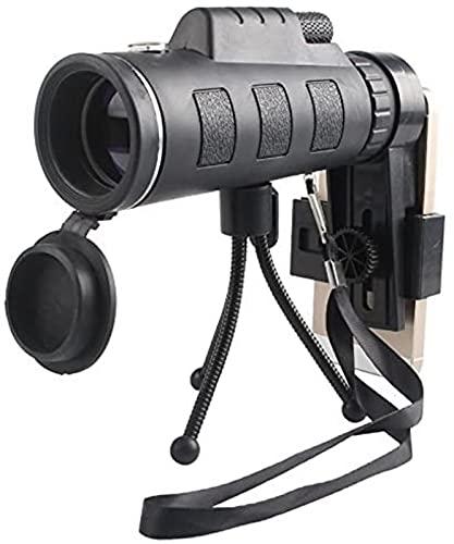 JeeKoudy Telescopio móvil 40X60 de Alta definición, Alto Brillo, telescopio de película Verde, binoculares de Poca luz, A