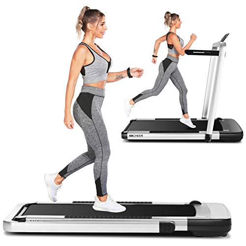 ANCHEER Folding Treadmill for Home Workout, 2.25HP Electric Walking Under Desk Treadmill...