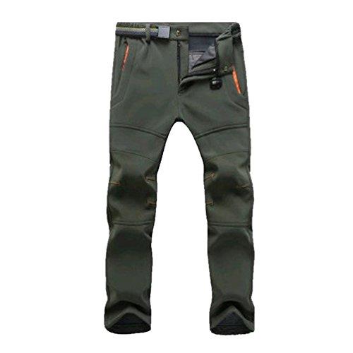 YiLianDa Pantalones de Trekking Pantalones de Softshell Impermeables Resistente al Viento Transpirable...