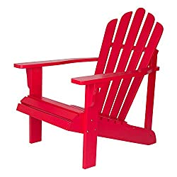 Shine Company Inc. 4611TR Westport Adirondack Chair, 28.25W x 35D x 36H Tomato Red