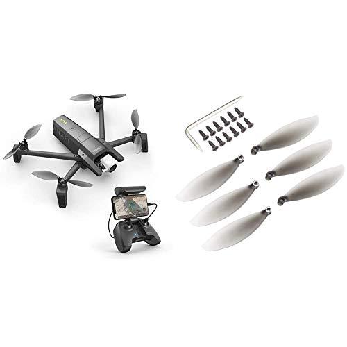 Parrot Anafi Drone, die ultrakompakte, fliegende 4K HDR Kamera & Anafi–Propeller für Drohne, grau