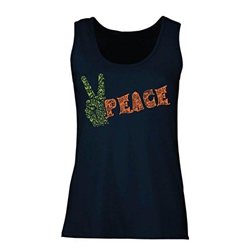 lepni.me Vrouwen Tank Top Vredessymbool, jaren '70 Hippie Fest, Vredesbord