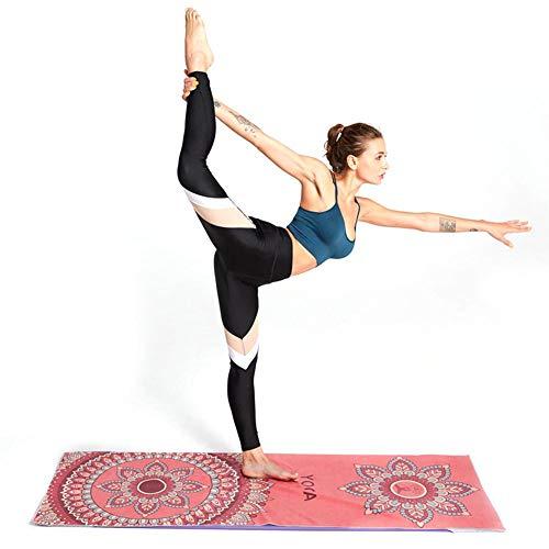 mooderff Esterilla de yoga universal, manta de fitness, suave microfibra, antideslizante, práctica y pilates, absorción de sudor por ambos lados