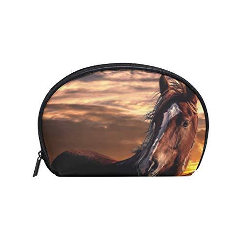 Make-upcosmeticatas-zonsondergang-paard met ritssluiting