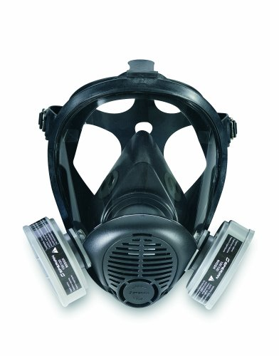 Honeywell 766184 Survivair Opti-Fit Silicone Full Facepiece Respirator, Medium