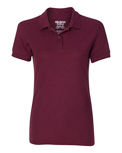 Gildan Womens DryBlend 6.3 oz. Double Piqu? Sport Shirt (G728L) -MAROON -XL