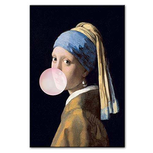 Xnhui Mädchen Affäre Berühmte Kunstsegeltuch-Ölgemälde Mädchen Ballon Leinwand Kunst Foto Wanddekoration Tx (Color : PM289, Size (Inch) : 60x90cm no Frame)