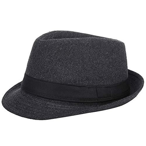 AIEOE - Sombrero Hombre Boda Panamá Jazz con ala Ancha Gorro de...