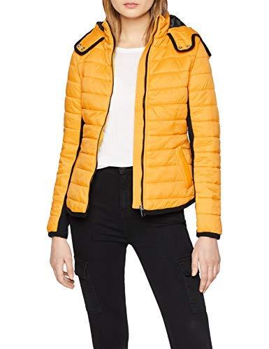 New Look Phoebe Puffer 6022189 Abrigo, Amarillo (Dark Yellow 87), 36 ES para Mujer