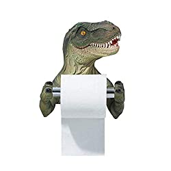 4. Chris.W T-Rex Wall Mounted Toilet Paper Holder