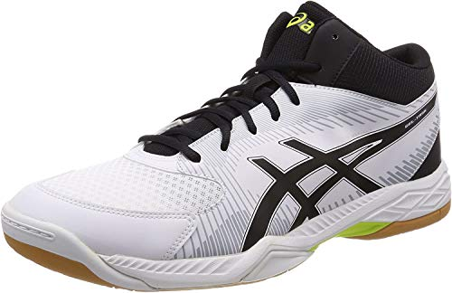 Asics Gel-Task MT, Zapatos de Voleibol para Hombre, Blanco (White/Black/Mid Grey 0190), 45 EU