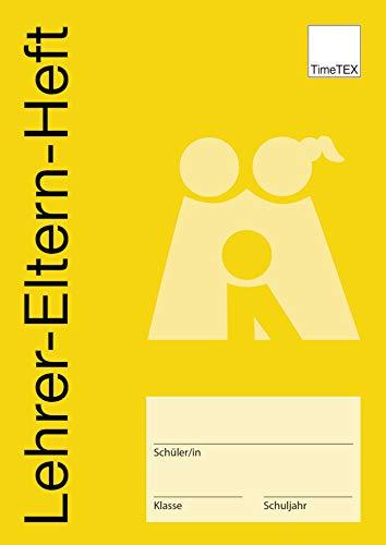 TimeTEX Lehrer-Eltern-Heft - Für Mitteilungen und Entschuldigungen - A5 - Heft - Ocker - 10712 - Muttiheft - Elternheft - Mitteilungsheft