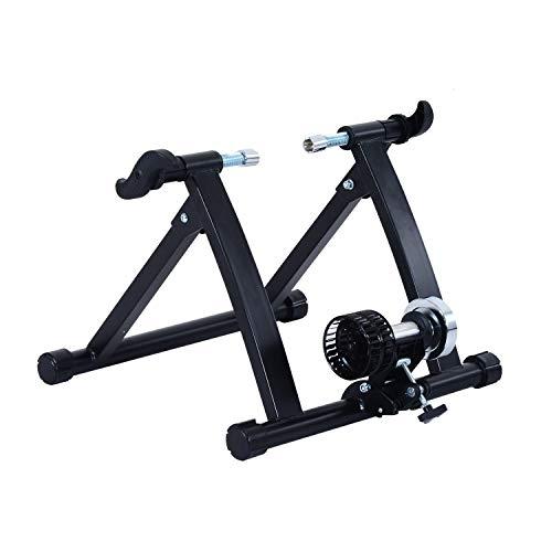 benzoni Rullo per Bicicletta Pieghevole per Allenamento in Casa Nero 54.5x47.2x39.1 cm