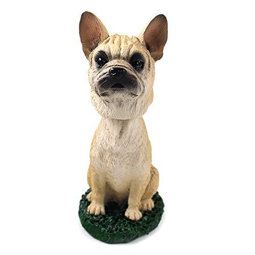 Animal Den French Bulldog Fawn Dog Bobblehead Figure Toy for Car Dash Desk Fun Toy Accessory