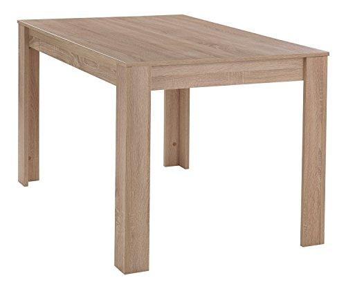 Esstisch Küchentisch Esszimmertisch | B 120 x T 80 cm | Braun | Eiche sägerau