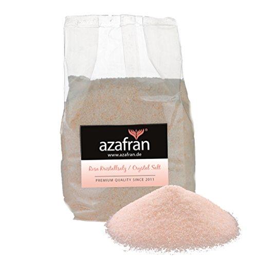 Azafran Rosa Kristallsalz (bekannt als Himalaya Salz) Steinsalz fein 1kg