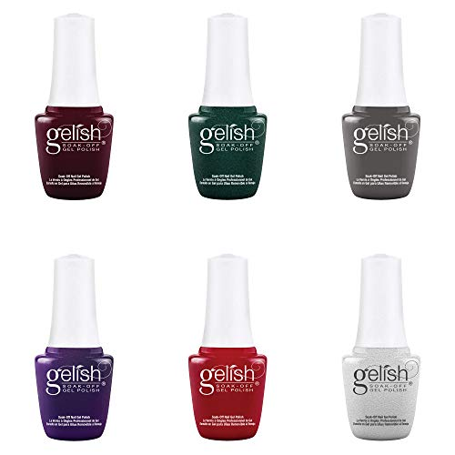 Gelish Mini Disney Villains Complete Collection 9 mL Soak Off Gel Nail Polish Set, 6 Color Pack with Villain Inspired Colors