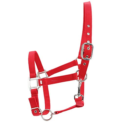 Fockety Controllo della Mosca del Cavallo di Colore Rosso, Cavezza Regolabile, Accessori per l'equitazione per Una Guida di Primo Piano