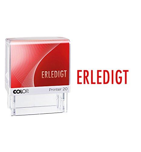 Colop 100670 Textstempel selbstfärbend: Erledigt, rot
