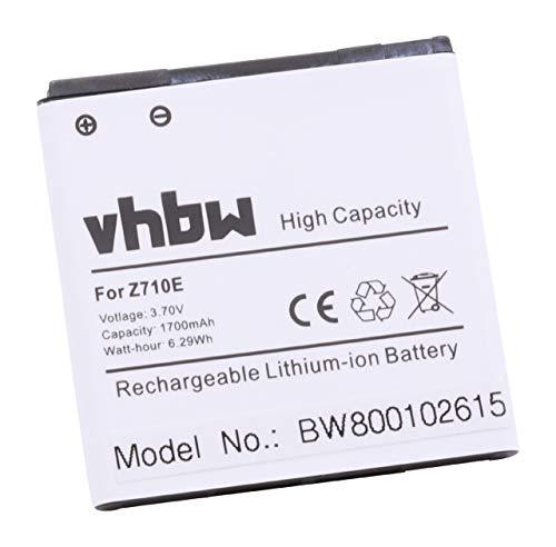 vhbw Li-ion Akku 1700mAh (3.7V) für HTC Sensation, G14, Z710e, u.a. wie VI391000, BG58100, BA S560, 35H00150-01M, BA58130, BG86100, BA-S780.