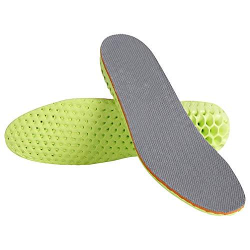 Exceart 1 Paar Hoogtevergroting Inlegzolen Conversie Van Onzichtbare Schoenen Verhoogde Hak-Inlegzolen Schoenliften - Maat 41-43 3. 5 Cm (Groen Grijs)