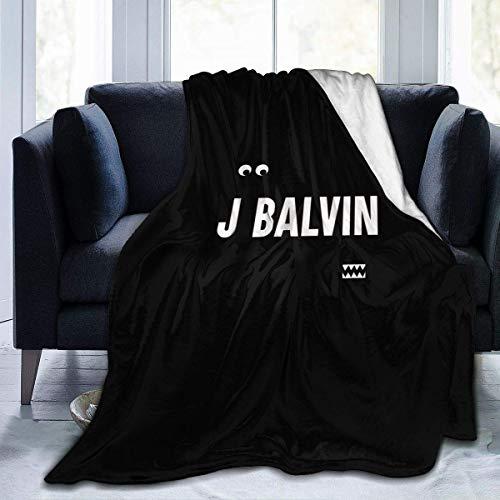 Shichangwei J Balvin Vibras - Manta de franela ultra suave y cálida (127 x 101 cm, 152 x 127 cm), color blanco