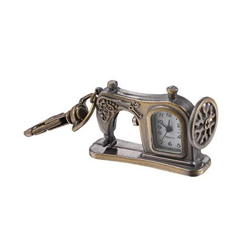 VOSAREA Sewing Machine Keychain Quartz Watch Keychain Vintage Purse Bag Charms Metal Key Ring Pendant Christmas Birthday Gift for Adults Men Women