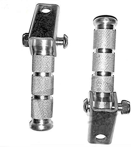 Fußrasten Satz - Styling - klappbar - Alu - Silber Chrom eloxiert - mit Schrauben - universell