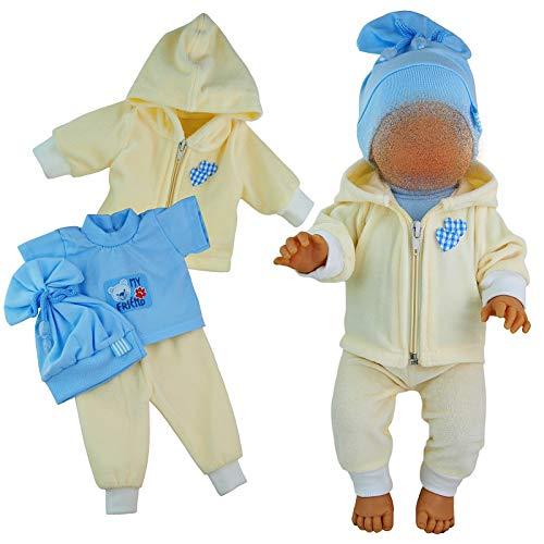 Kindabox Puppenkleidung 4-TLG Set für Puppe bis 43 cm (ohne Puppe)