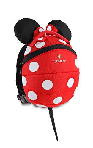 LittleLife Mochila infantil Disney con riendas de seguridad, rojo, niño: 3-4